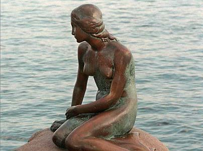 Hans Christian Andersen, The Little Mermaid Copenhagen Denmark - Den lille havfrue K�benhavn